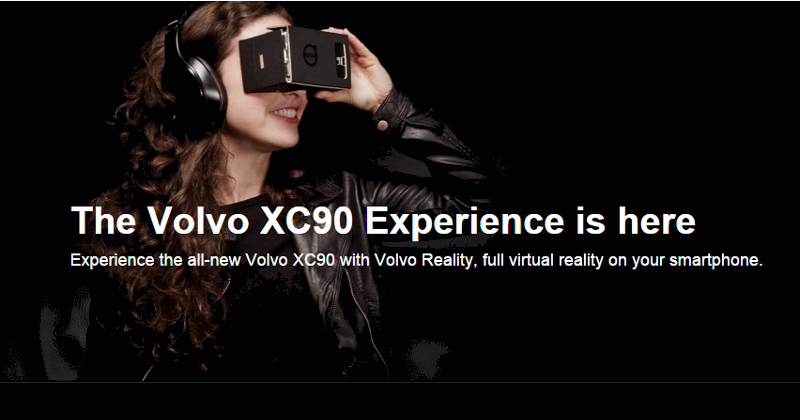 Volvo uses Google Cardboard to advertise the XC90