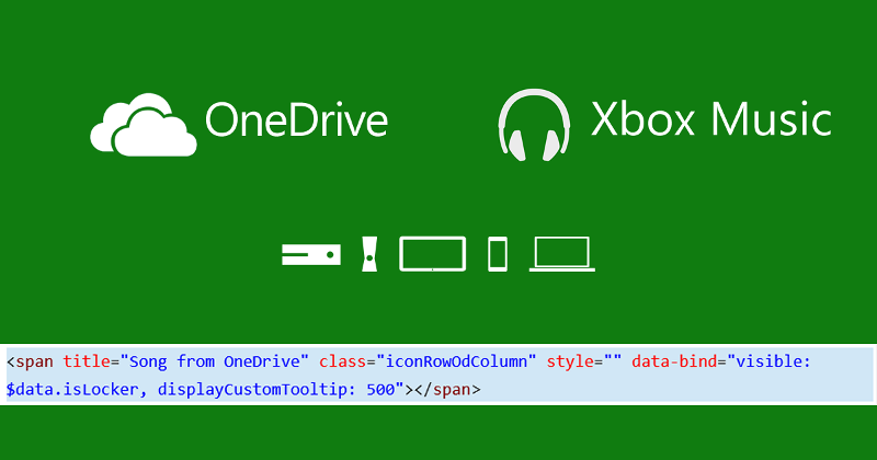 Xbox Music OneDrive integration seems ready for launch