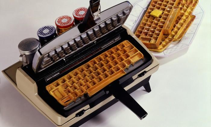 Keyboard waffle iron tops Kickstarter goal just in time for Christmas