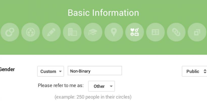 Google+ adds custom gender option to profiles