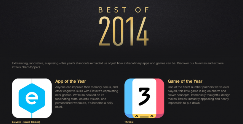 Apple's 'Best of 2014' list includes old favs, new artists, fun apps