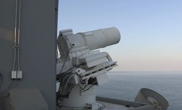 Video: Navy tests awesome new Laser Cannon at sea