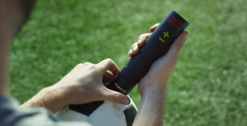TorrX smart air pump auto-inflates to the right pressure