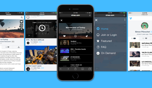 Vimeo re-works mobile site hoping you'll start using it