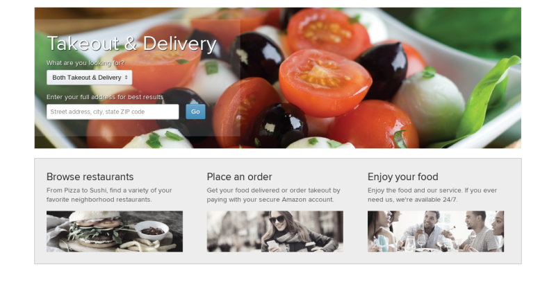 Amazon wants to deliver your dinner to your door