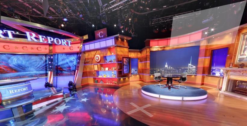 Colbert Report set added to Google Business View