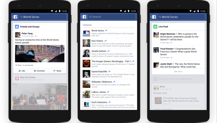 Facebook brings trending topics to mobile, organizes the discussion