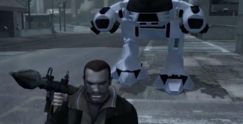 GTA IV gets RoboCop mod packing ED-209