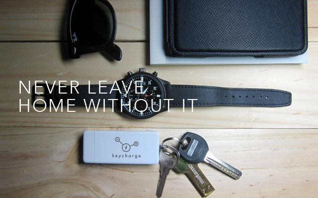 Keycharge portable battery fits on a keychain