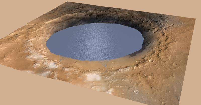 Mars Gale Crater could have held water for millions of years