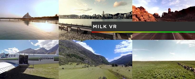 Samsung pours Milk VR 360 video on its virtual reality headset