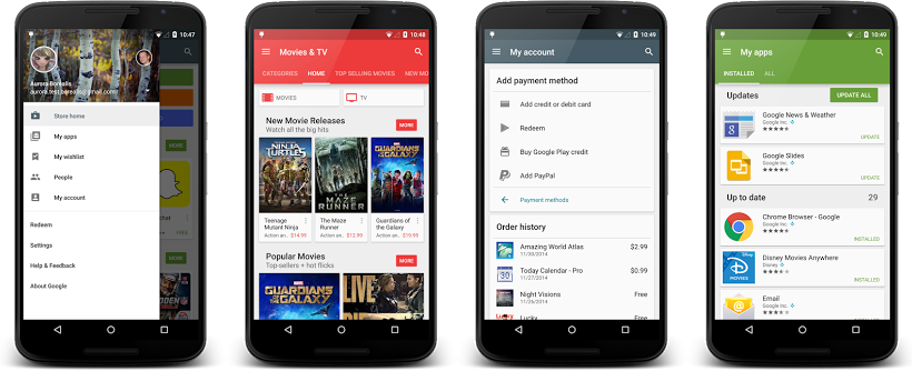 Google Play app is getting a Material Design upgrade