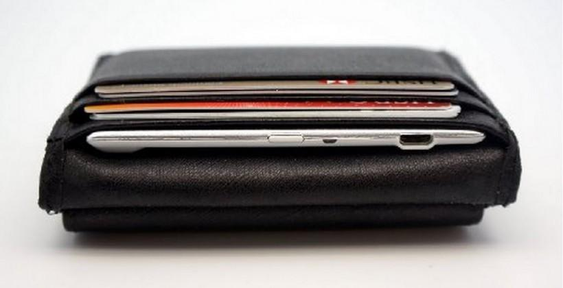 Slimger: a slim portable battery that fits in a wallet