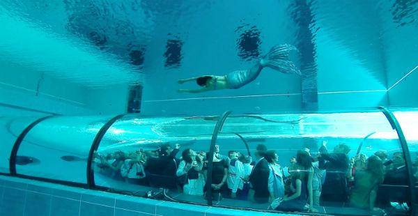 Italian swimming pool is 40 meters deep, breaks world record