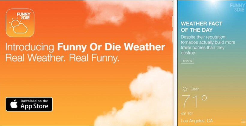 Funny or Die Weather app offers a joke with the temperature