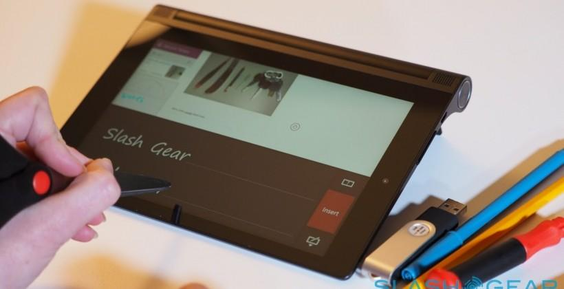Yoga Tablet 2 with AnyPen hands-on: any object a stylus