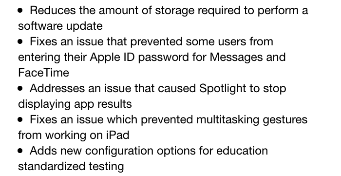 Apple rolls out iOS 8.1.3, requires less open memory for updates