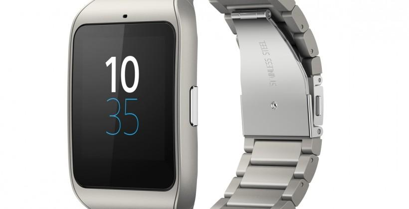 Sony goes steel for Smartwatch, launches Smart-B headset