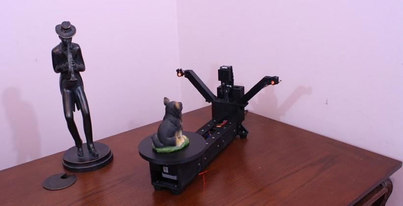 DIY Atlas 3D scanner uses Raspberry Pi for high resolution scanning