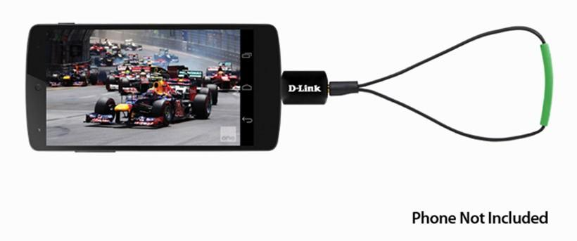 D-Link DWM-T100 micro-USB TV Tuner for Android provides TV on the go