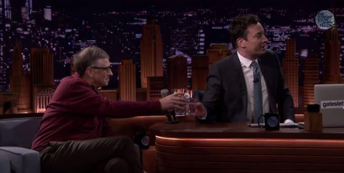 Tricksy Bill Gates gets Jimmy Fallon to drink poo-derived water