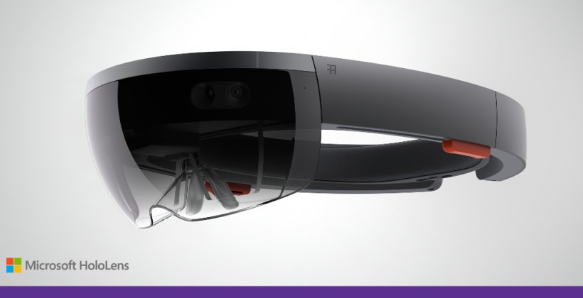 This is Microsoft HoloLens