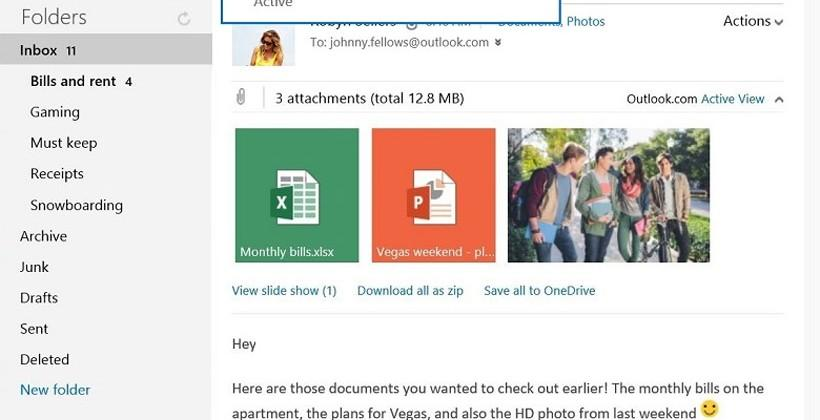 Outlook.com adds Save to OneDrive