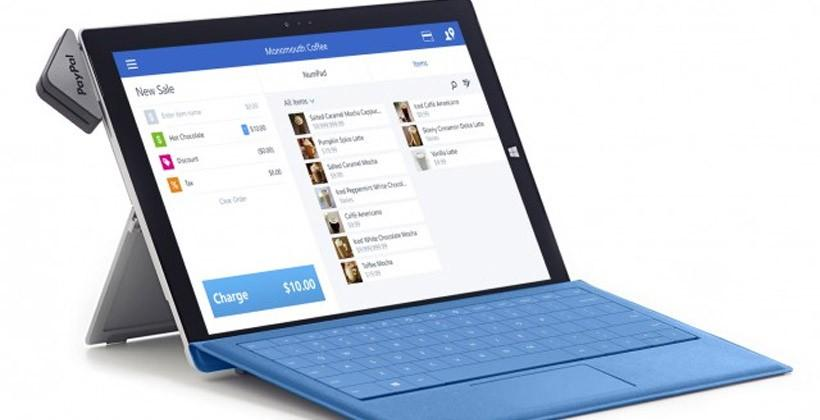 Microsoft Surface and PayPal Here team up for point-of-sale solution