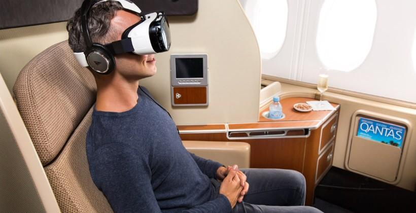 Samsung and Qantas airlines team to offer VR entertainment in-flight