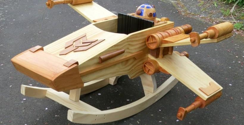 X-wing rocker for kids built by craftsman