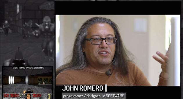 John Romero plays Doom while giving new commentary