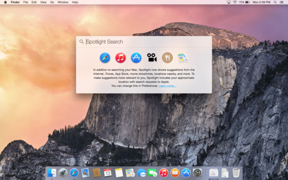 Spotlight for OS X Yosemite has glitch that may expose your info