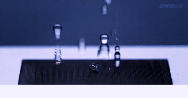 This metal is so water-resistant that it bounces them off
