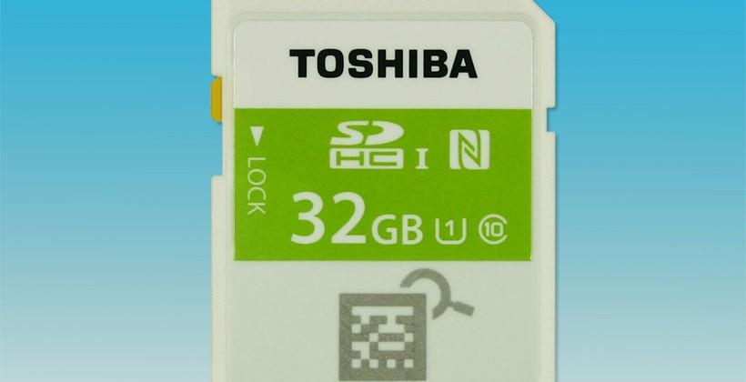 Toshiba launches SDHC memory card with built-in NFC