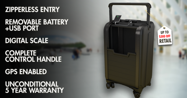 "Trunkster zipperless ""smart"" luggage is a traveler's dream"