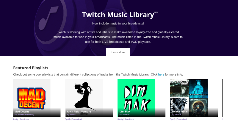 Twitch does Music with new library and broadcasting option