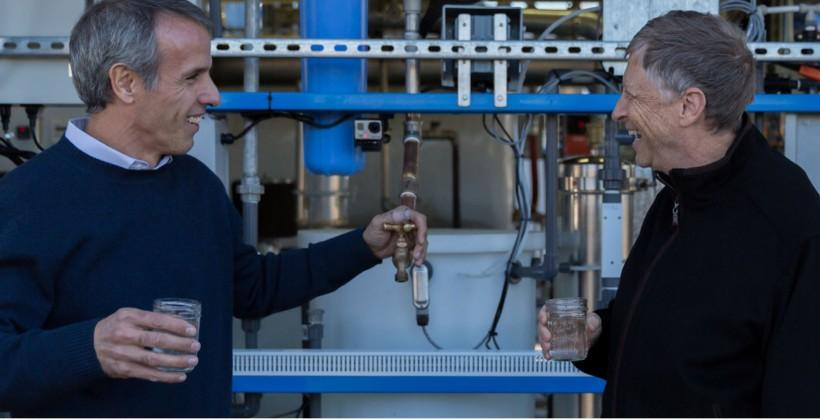 Bill Gates samples drinking water extracted from poop