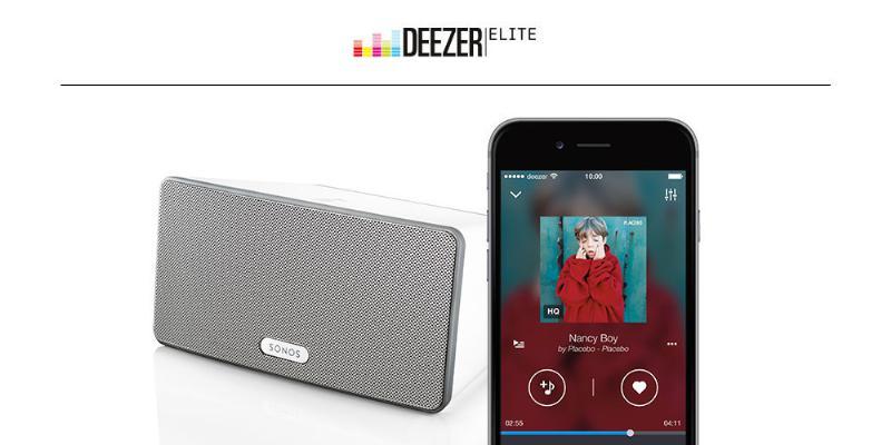 Deezer Elite high-def auto hits Sonos international