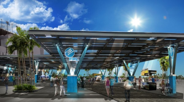 Solar Canopy at Daytona International Speedway