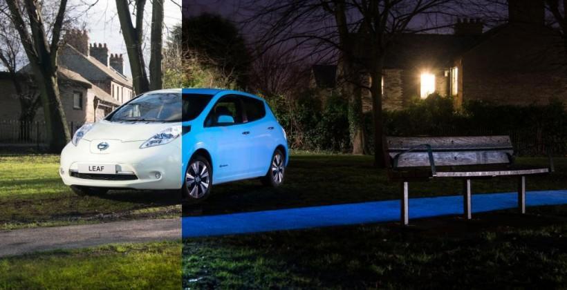 Nissan made a glow-in-the-dark Leaf