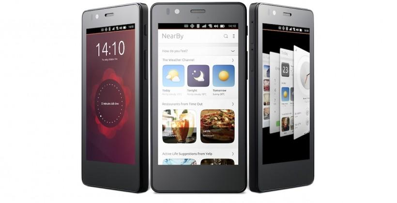 This is the first Ubuntu phone, the Aquaris E4.5 Ubuntu Edition