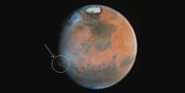 What are these weird Mars clouds? Stargazers aren't sure