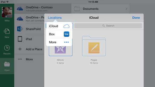 Office for iOS paves way for storage in any cloud