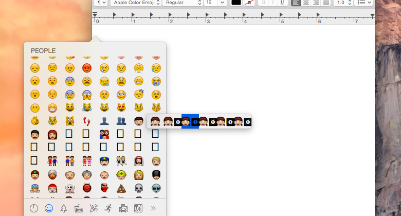 OS X 10.10.3 offers hints of diverse, multicultural emoji