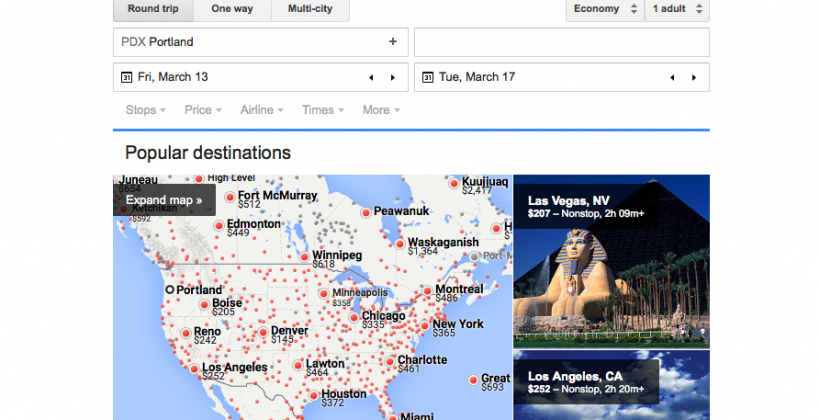 Google officially launches Flights, their Search-friendly travel tool