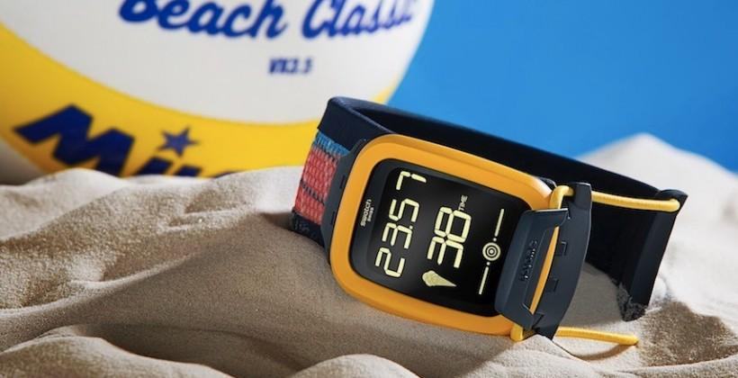 Swatch announces its first smartwatch, aimed at beach volleyball