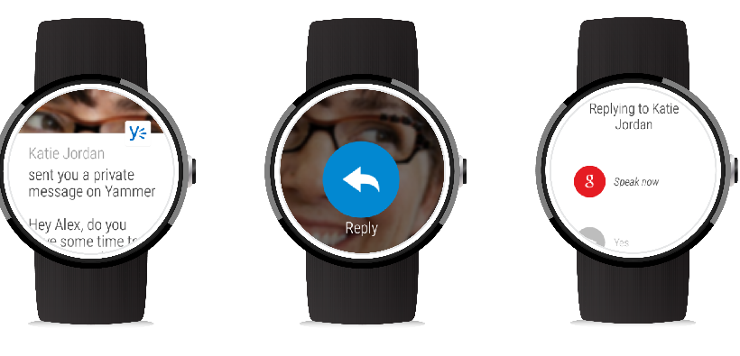 Yammer updates bring Android Wear support, iOS Handoff