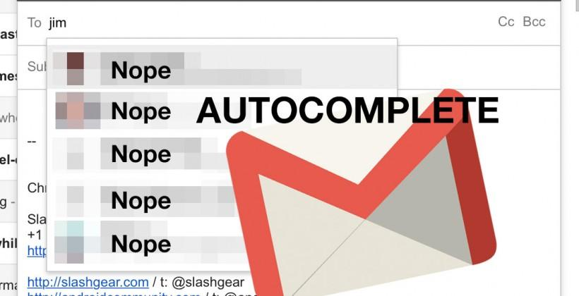 Gmail autocomplete bug a danger to quick tappers