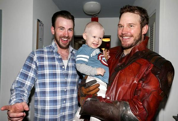 Chris Pratt visits sick children as Guardians of the Galaxy's Star-Lord