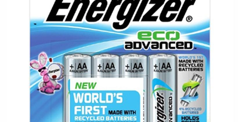 Energizer unveils high performance battery made from recycled batteries